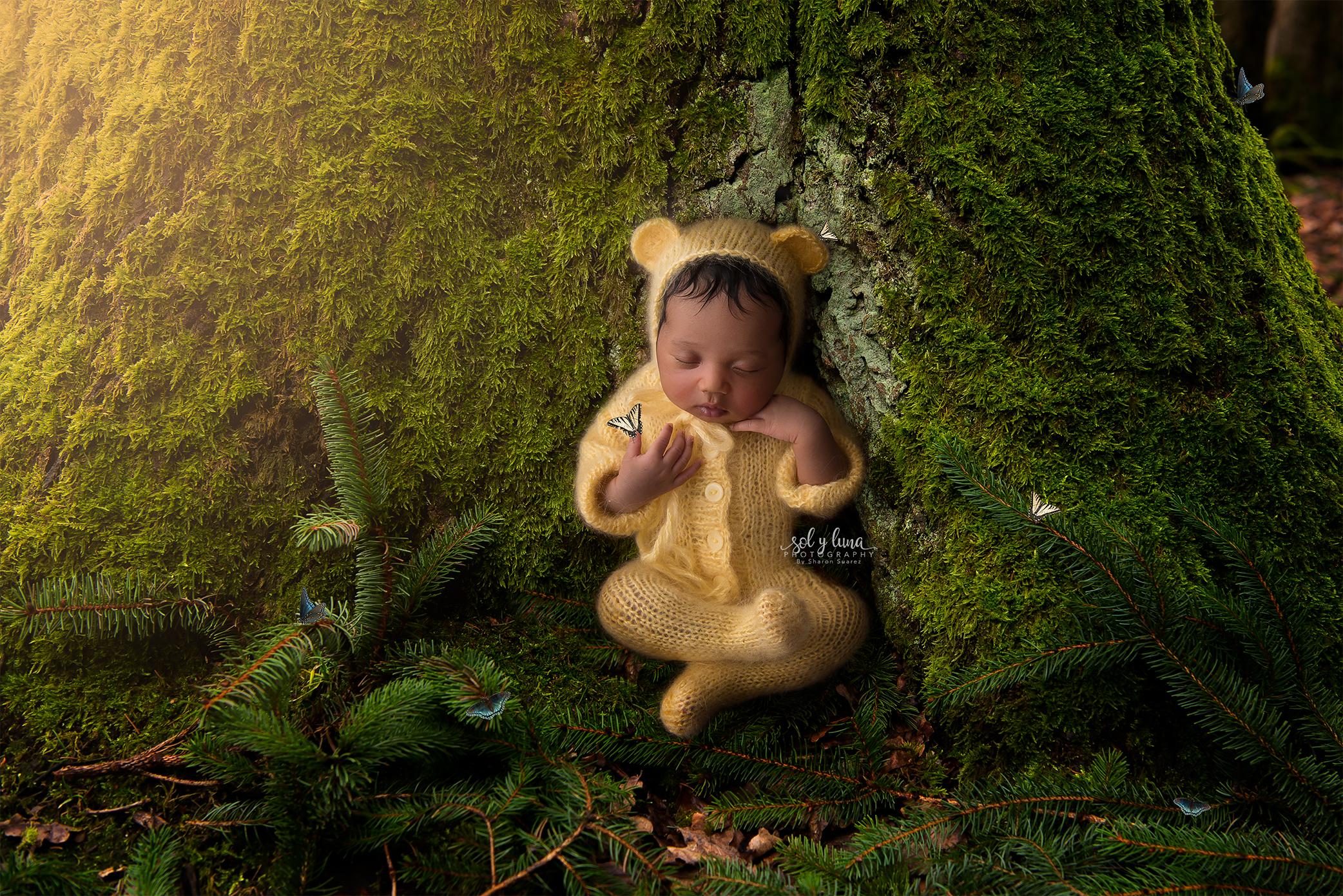 Babyfotoshooting Digitaler Hintergrund